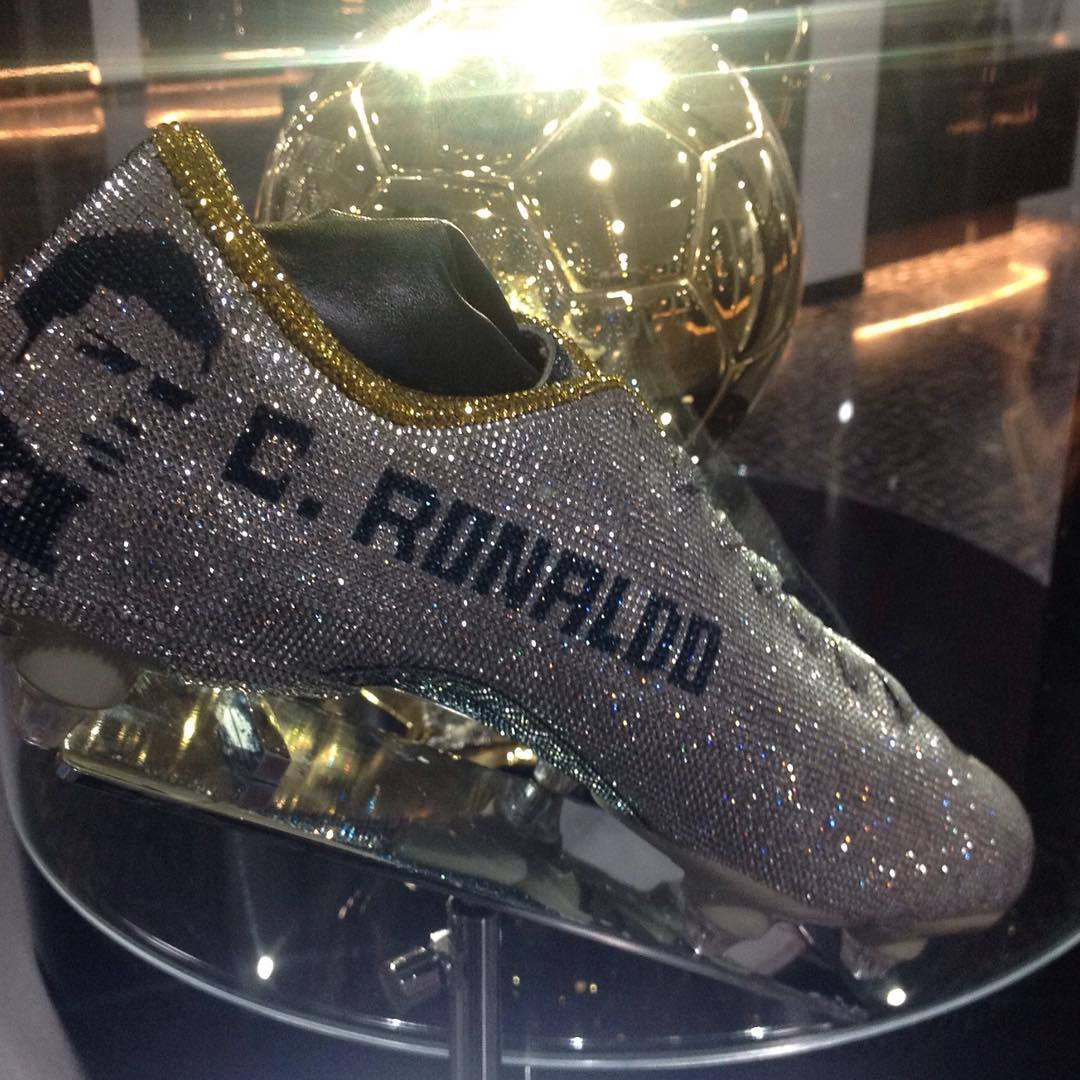 Cristiano Ronaldo Hired Nigerian Designer Tokunbo Daniel To Make Him Three Diamond-Encrusted Boots (1)