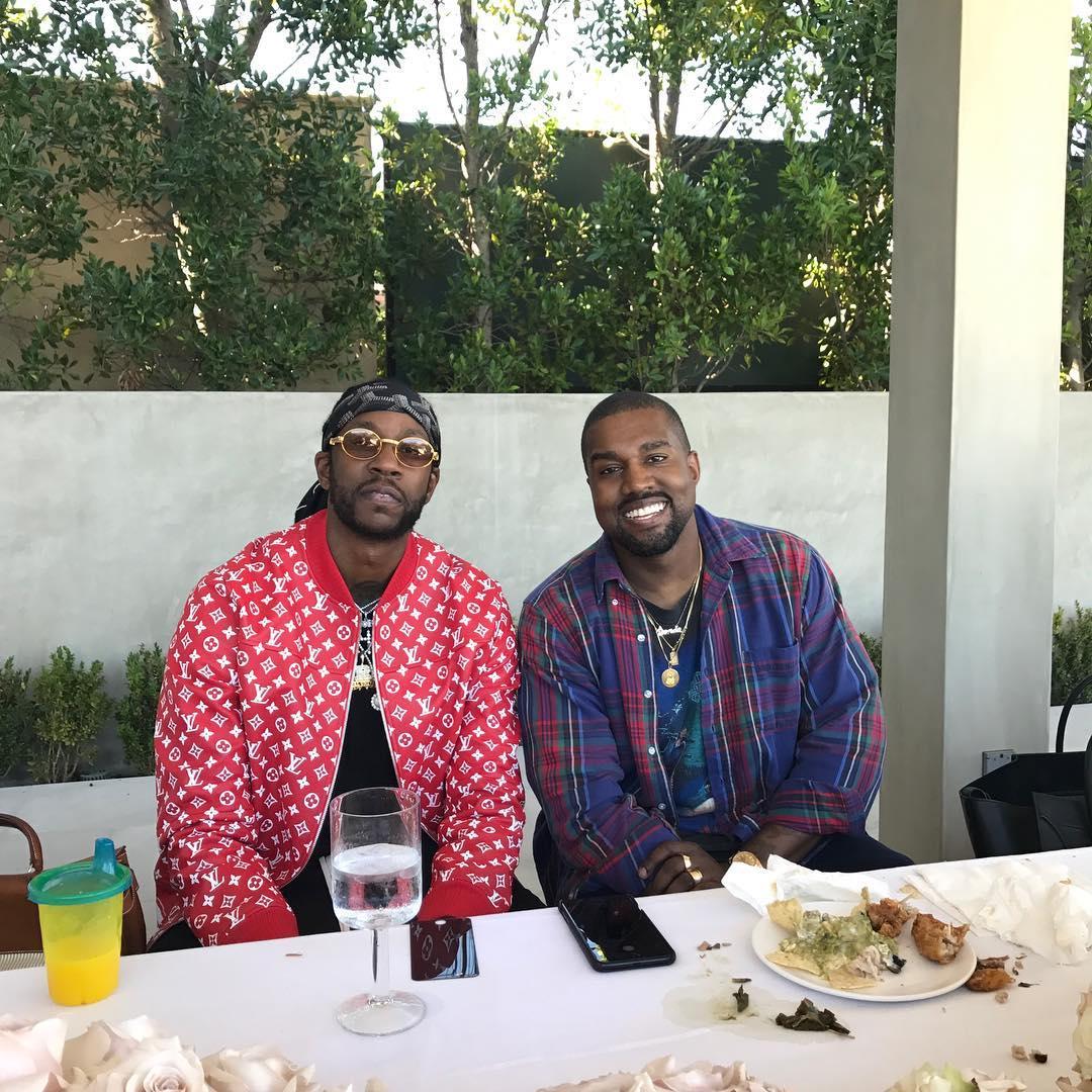 Kim Kardashian And Kanye West Fun Family Photo Alongside 2Chainz (2)
