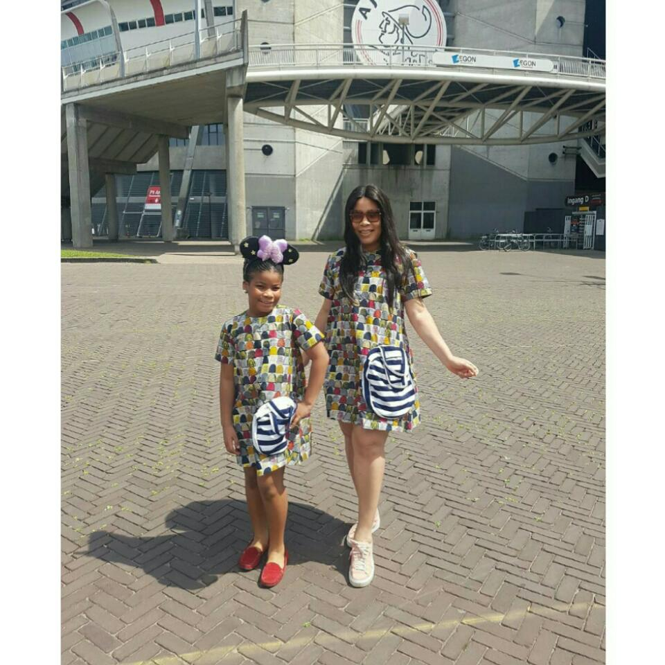 Monalisa Chinda And Her Look-Alike Daughter Rock Matching Ankara Outfits