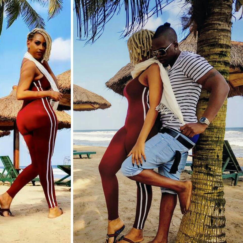 Juliet Ibrahim And Nigerian Rapper Boyfriend Iceberg Slim Share Romantic Beach Photos
