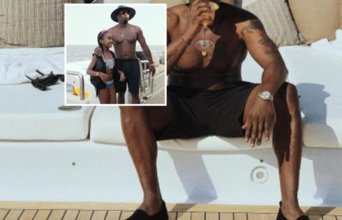 Diddy Shows Off His Dad Bod Drinking On Luxury Yacht Off Coast Of Italy