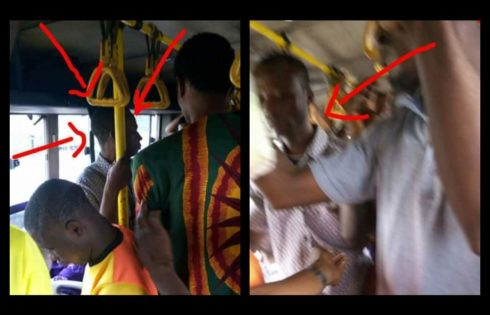 Elderly Man Tried To Finger A Young Lady In A Commercial Bus