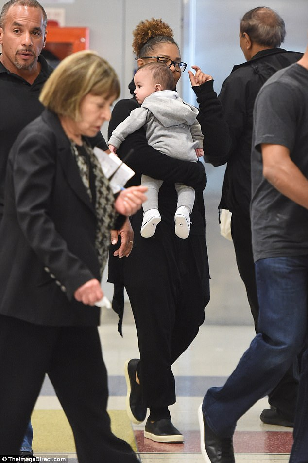 Janet Jackson Doting Over Son Eissa As She Takes Him On First Trip To United States (3)