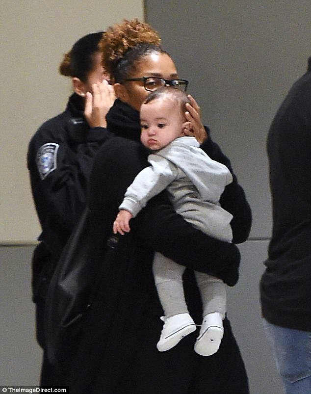 Janet Jackson Doting Over Son Eissa As She Takes Him On First Trip To United States (1)