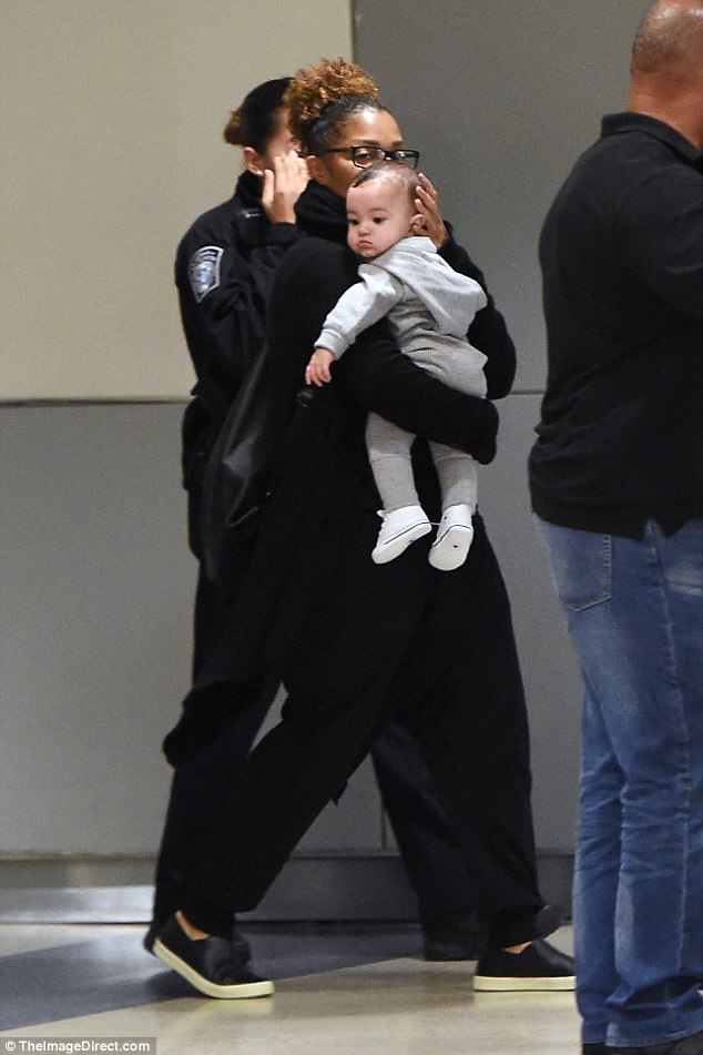 Janet Jackson Doting Over Son Eissa As She Takes Him On First Trip To United States (4)