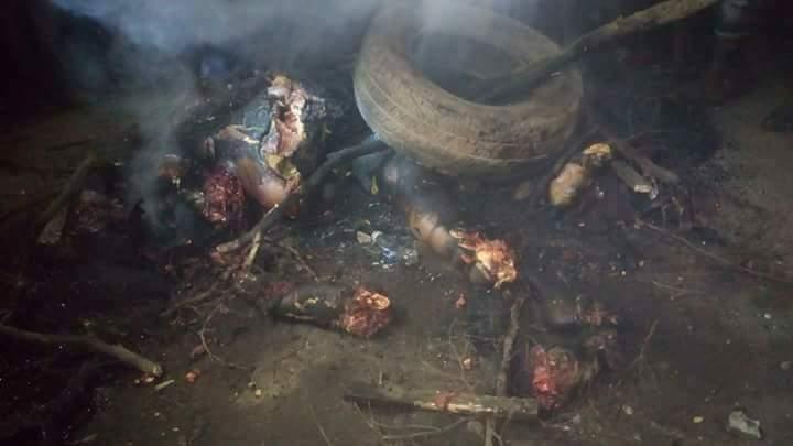 Vigilante Members Killed And Burnt Three Badoo Suspects At Odogunyan Area (1)