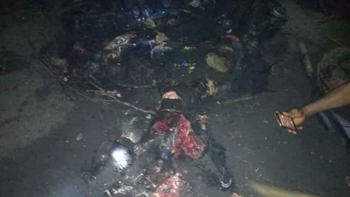 Vigilante Members Killed And Burnt Three Badoo Suspects At Odogunyan Area (2)