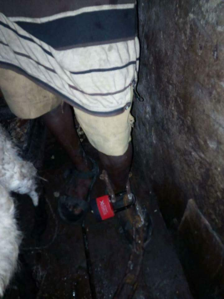 Houseboy Chained And Locked Up In Cage With Goats In Lagos (3)