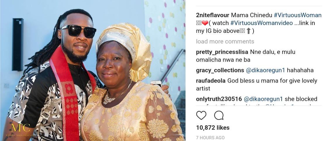 Flavour Gushes Over His Mum In Virtuous Woman Photoshoot (1)