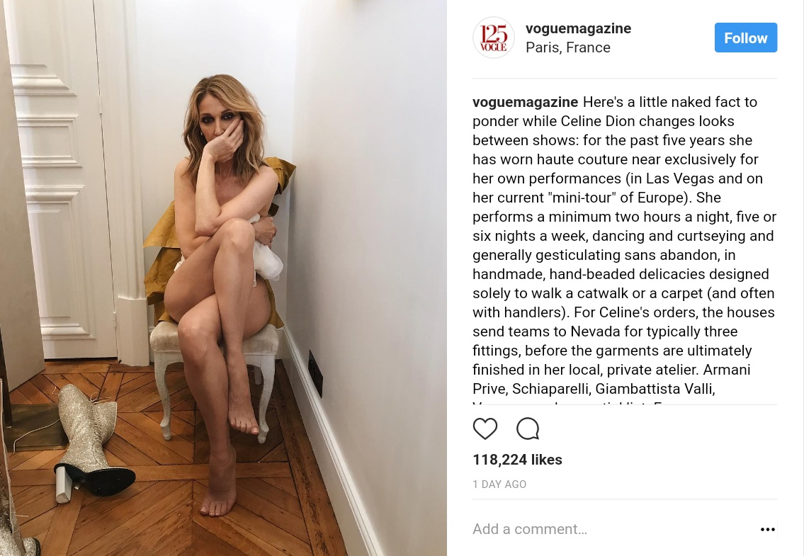 Celine Dion Poses Naked For Vogue Magazine (1)