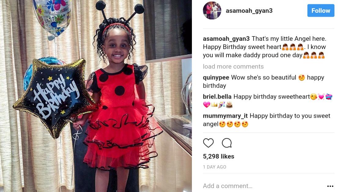 Asamoah Gyan Shows Off Daughter (1)