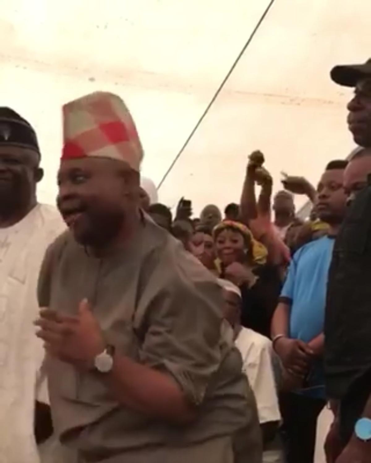 Davido Uncle Ademola Adeleke Dancing After Winning Senatorial Election Osun (3)