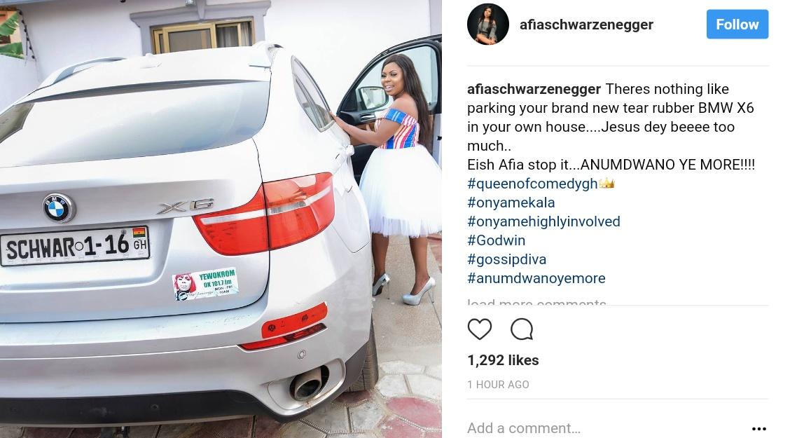 Afia Schwarzenegger Has Bought A Brand New BMW X6 (1)
