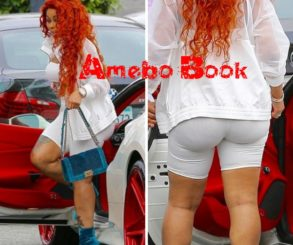 Blac Chyna Flashes Underboob In All White Outfit
