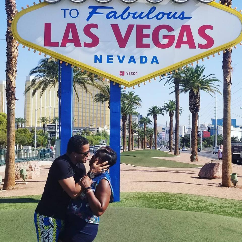 Van Vicker And Wife Adjoa Loved Up In Las Vegas
