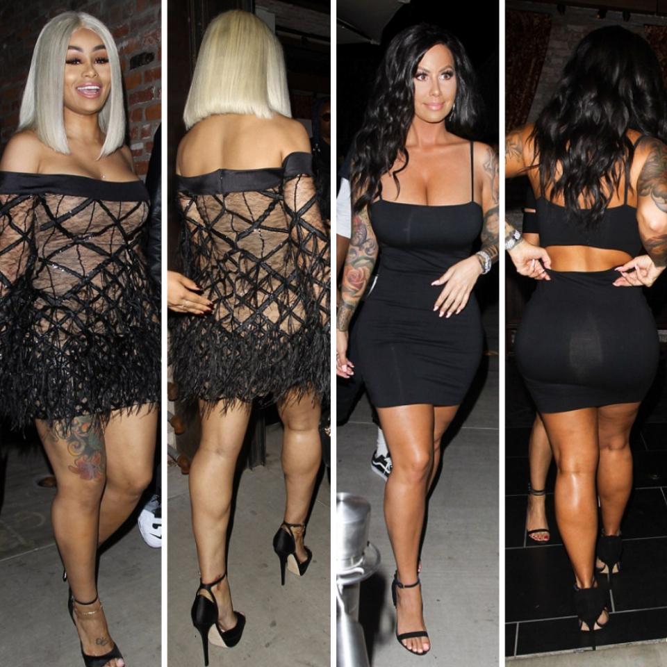 Curves On Display As Former Strippers Blac Chyna And Amber Rose Step Out Looking -7414
