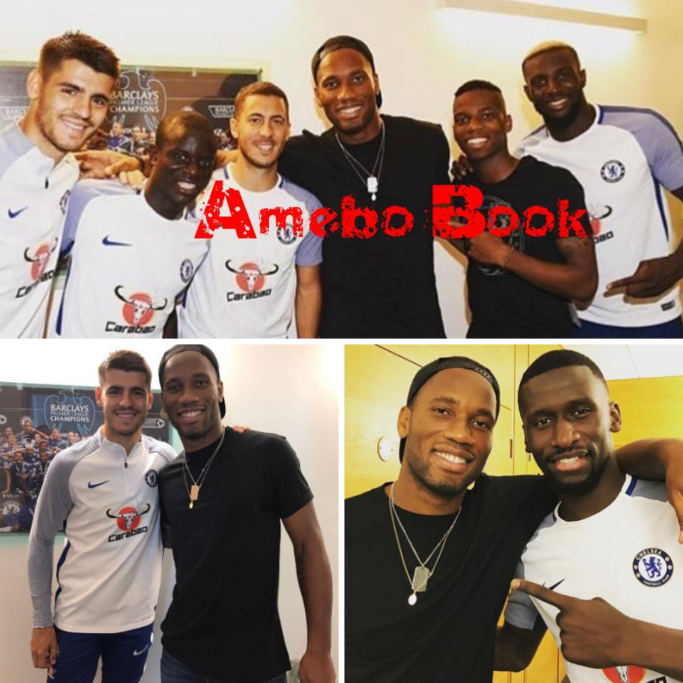 Didier Drogba Pictured Alongside AlvaroMorata