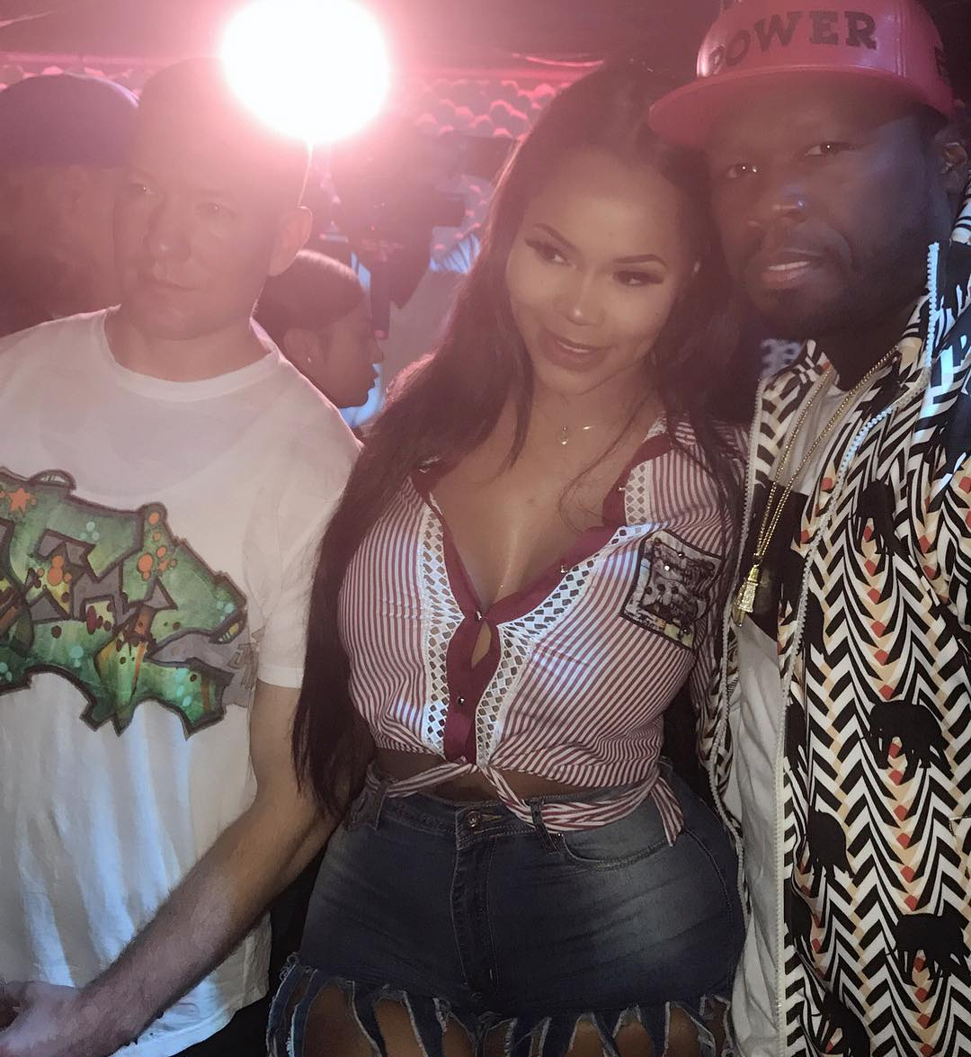 Look On 50 Cent As Dellishis Rocks His World (2)
