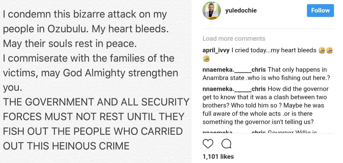 Yul Edochie Reacts Strongly To Ozubulu Massacre (1)
