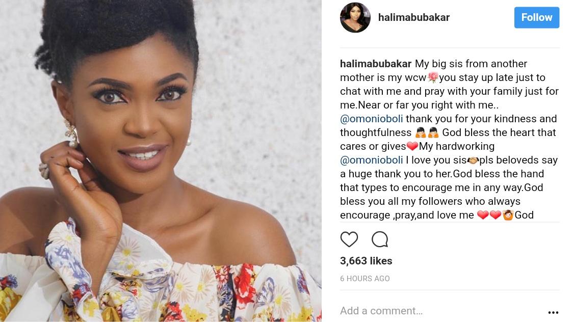 Halima Abubakar Shows Appreciation For Support Omoni Oboli Has Given (1)