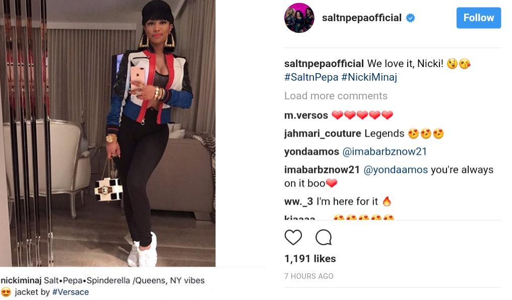 Nicki Minaj Channels Salt-N-Pepa In Epic Throwback, Rap Group Responds