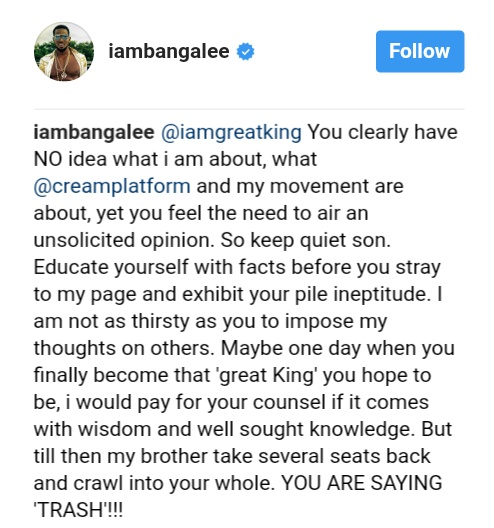D'banj Slammed A Troll Who Told Him To Quit Music (2)