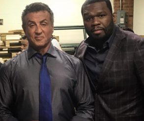 50 Cent Pictured With Sylvester Stallone