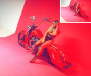 Shatta Michy On A Bike In Provocatively Sexy Go Shoddy Video Shoot
