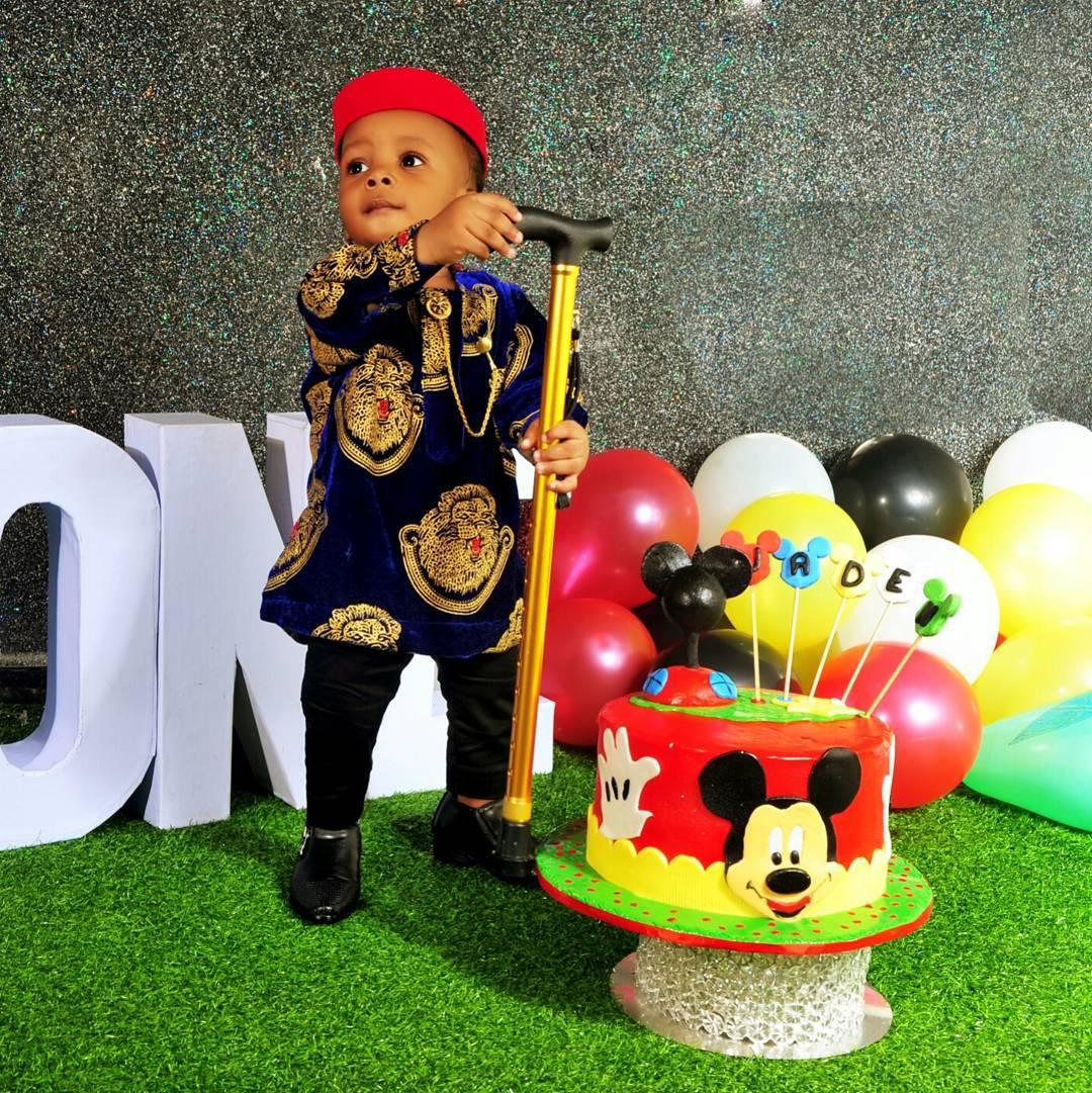Junior Pope And Wife Celebrate Son Jaden Jidenna Odonwodo 1st Birthday (4)