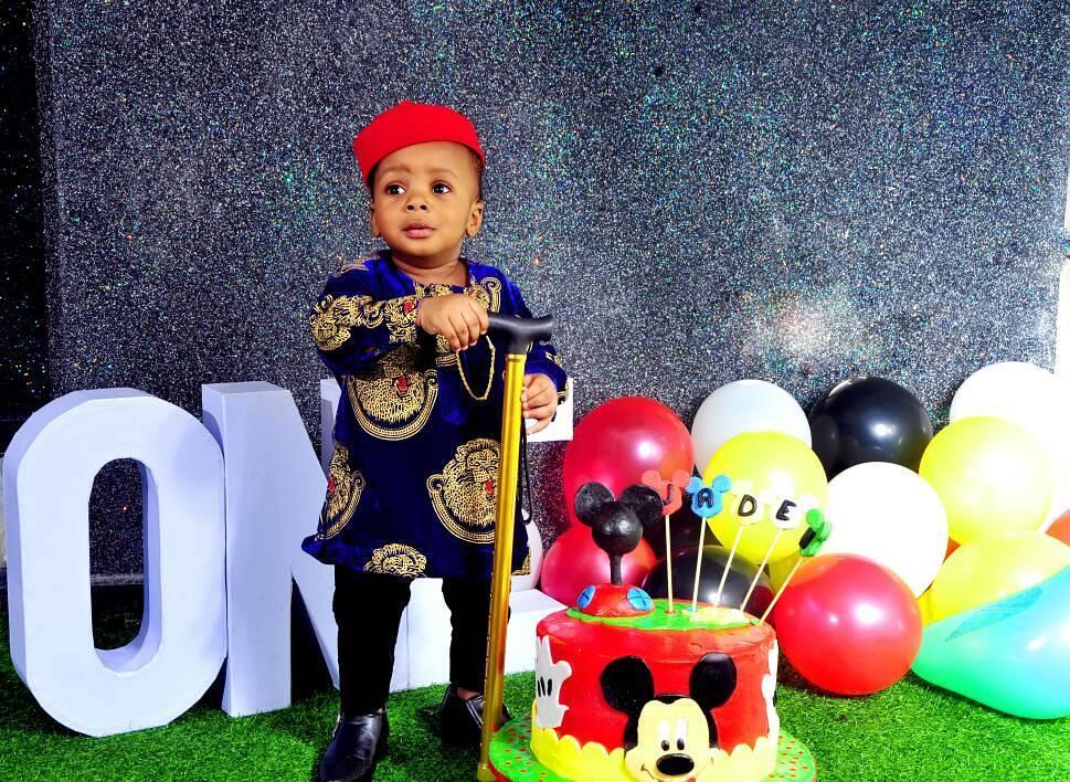 Junior Pope And Wife Celebrate Son Jaden Jidenna Odonwodo 1st Birthday (1)