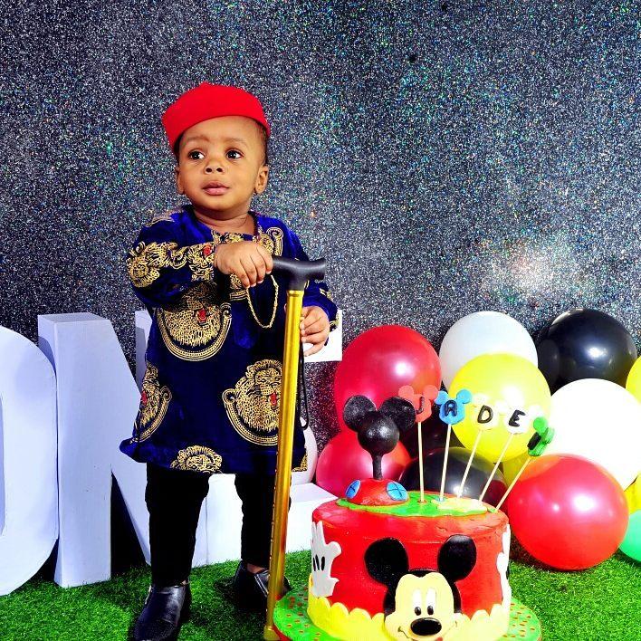 Junior Pope And Wife Celebrate Son Jaden Jidenna Odonwodo 1st Birthday (3)