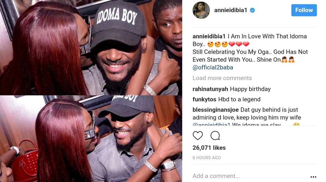 Annie Idibia Is Still Celebrating Tuface (1)