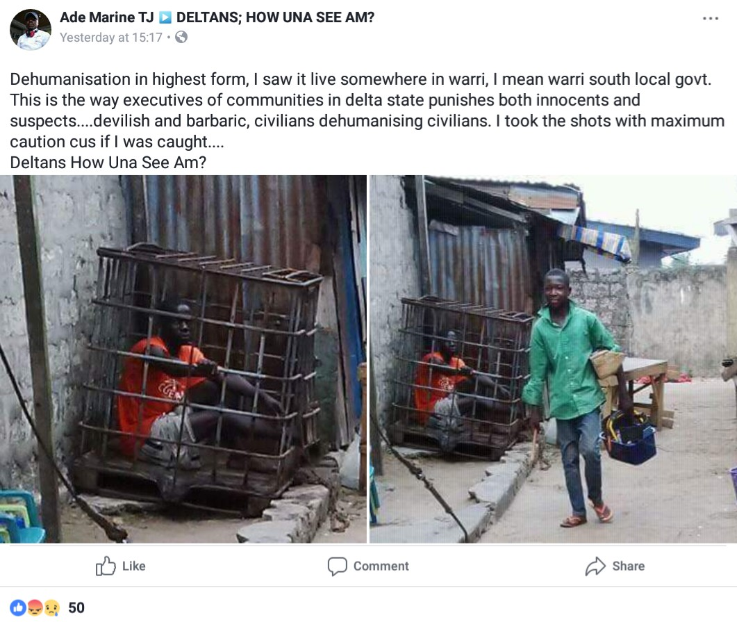 Man Describes How Both The Innocent And Suspects Suffer Barbaric Punishments In Delta State (1)