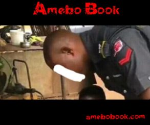 Nigerian Policeman Was Caught On Camera Fixing His Gun At Welder's Shop