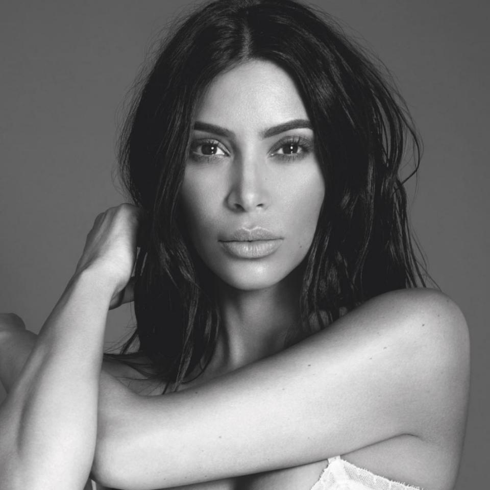 Kim Kardashian Topless KKW Beauty Glitter Photo Shoot