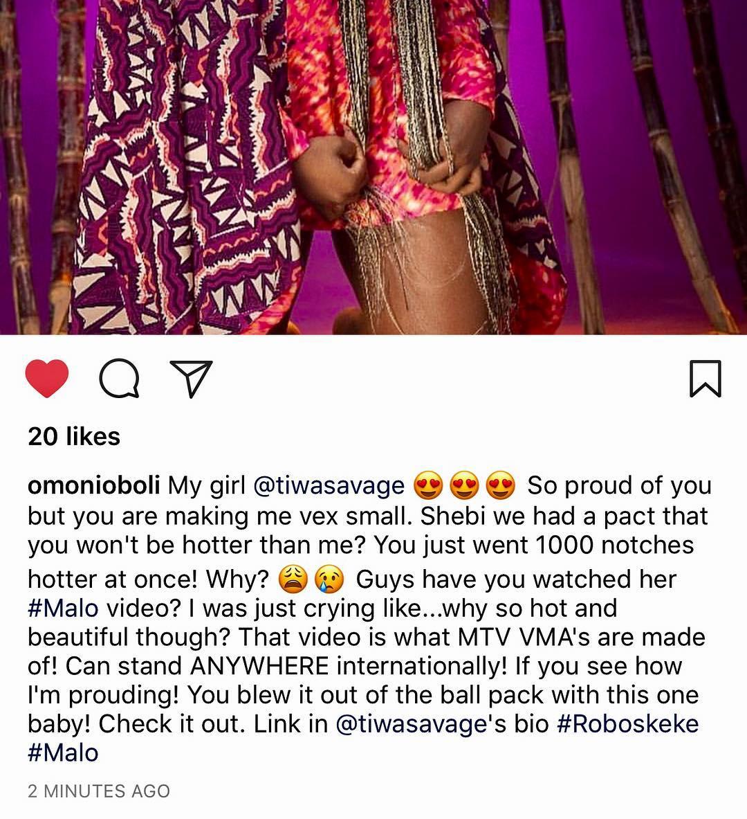 Omoni Oboli Appreciates Tiwa Savage Beauty (2)