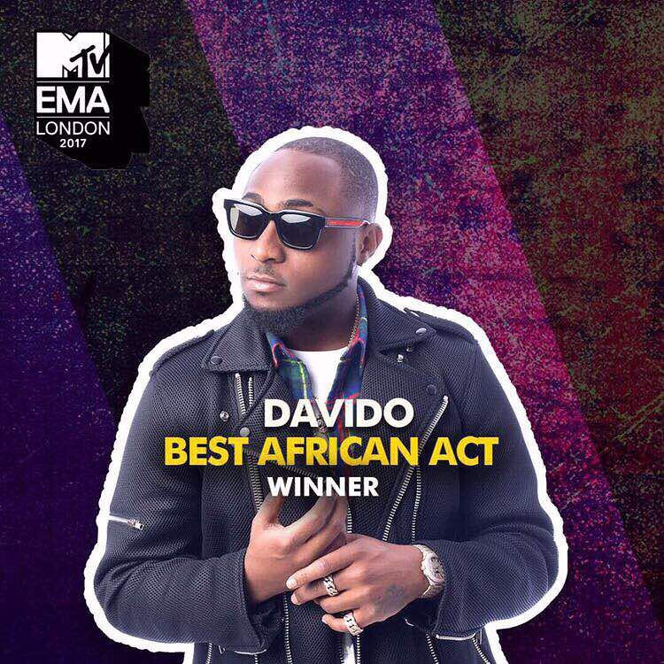 Davido's Reaction After He Was Named MTV Best African Act 2017 (2)