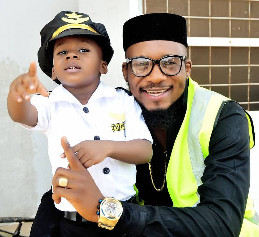 Junior Pope Transforms His Son Into A Pilot As He Celebrates 3rd Birthday (3)