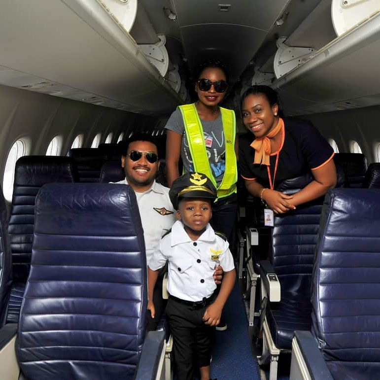 Junior Pope Transforms His Son Into A Pilot As He Celebrates 3rd Birthday (6)
