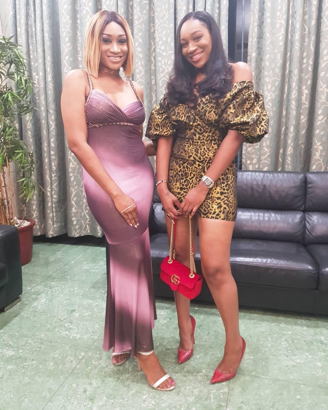 Ebube Nwagbo Pictured Alongside Oge Okoye At Her Birthday Dinner (2)