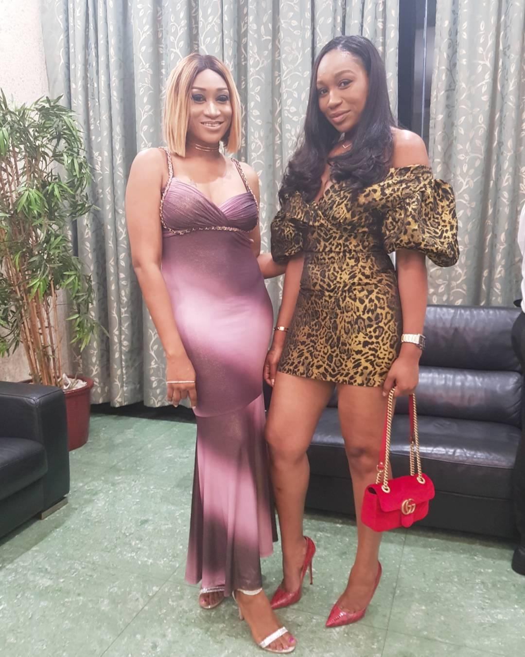 Ebube Nwagbo Pictured Alongside Oge Okoye At Her Birthday Dinner (3)