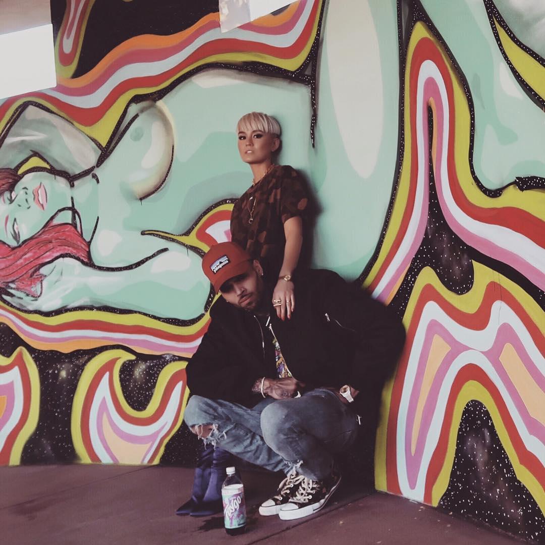 Chris Brown With Agnez Mo