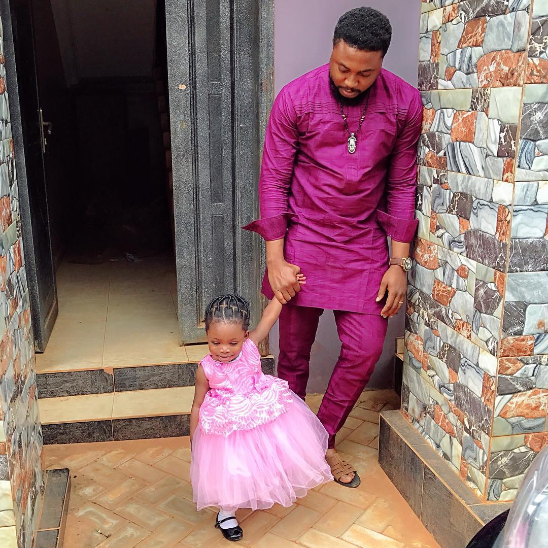 Nosa Rex With His Daughter