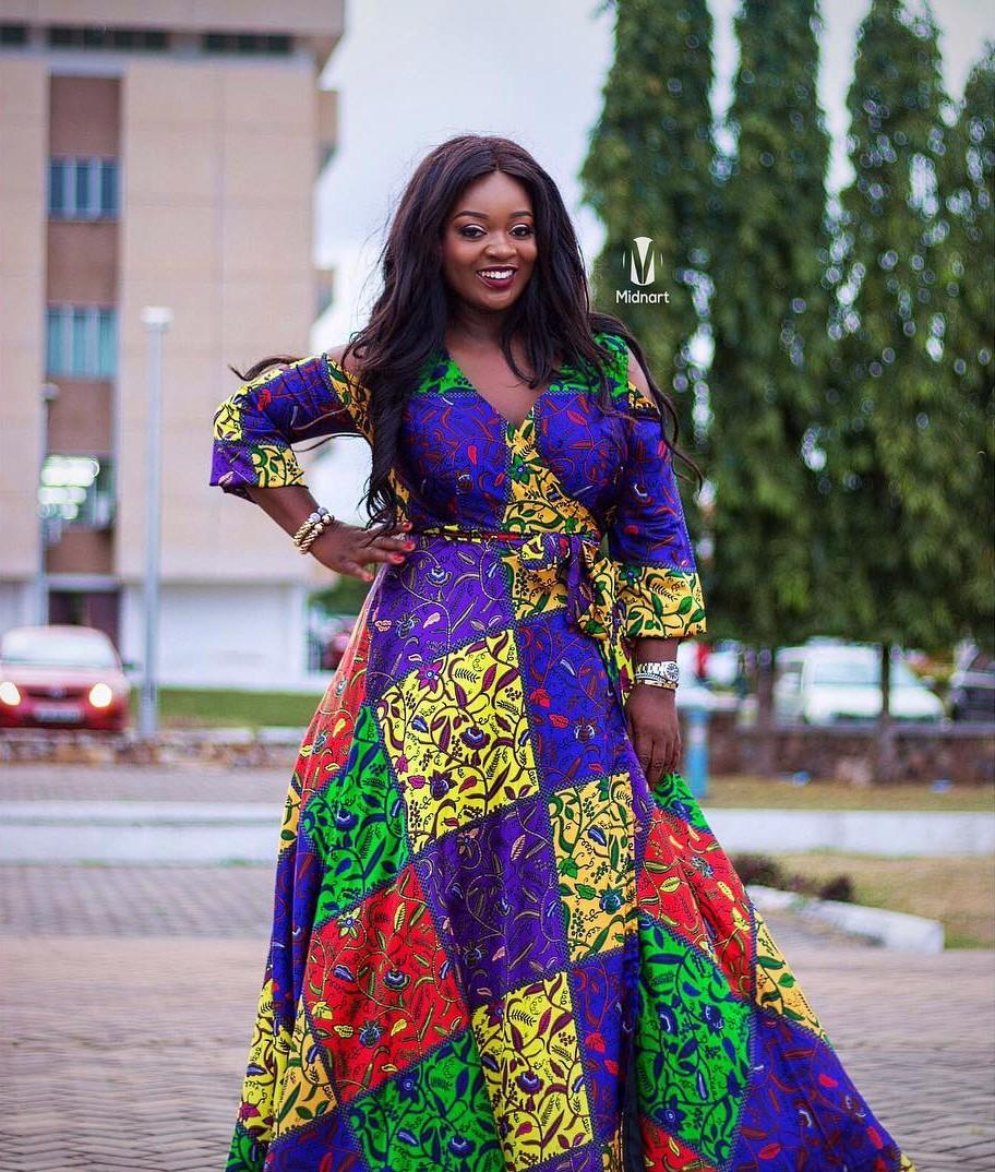 Jackie Appiah Completely Slays In Silk Ankara (2)