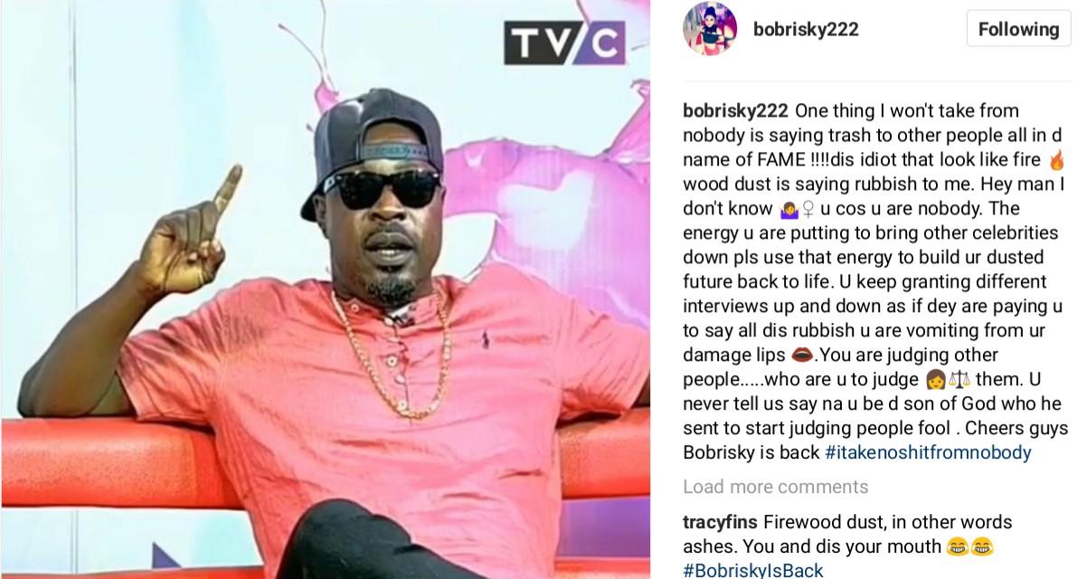 Bobrisky Blasts Rapper Eedris Abdulkareem (2)