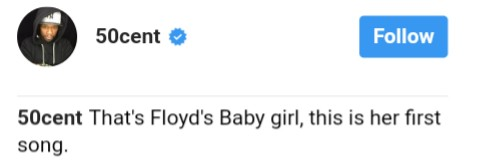 50 Cent Clowning Floyd Mayweather Over His Daughter's First Song (2)