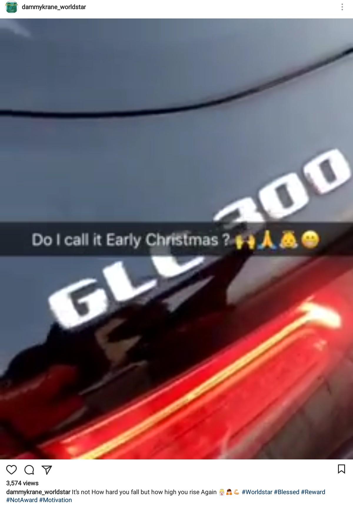 Dammy Krane Buys Himself A GLC300 Benz (2)