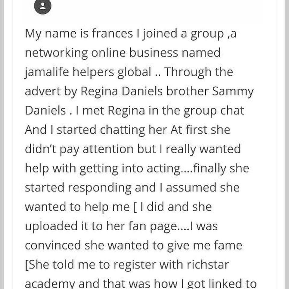 Regina Daniels Threatening To Release Teen Girl's Nudes (6)