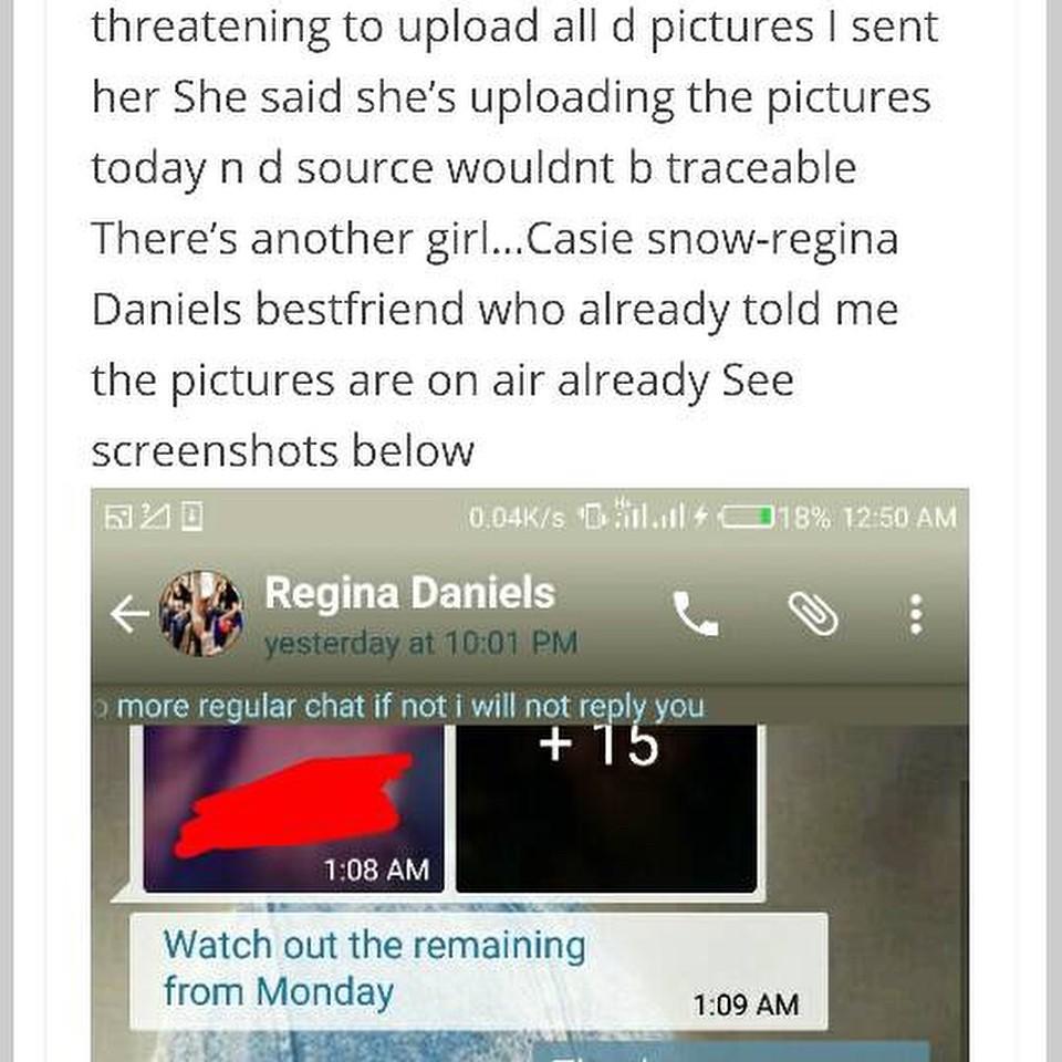 Regina Daniels Threatening To Release Teen Girl's Nudes (8)