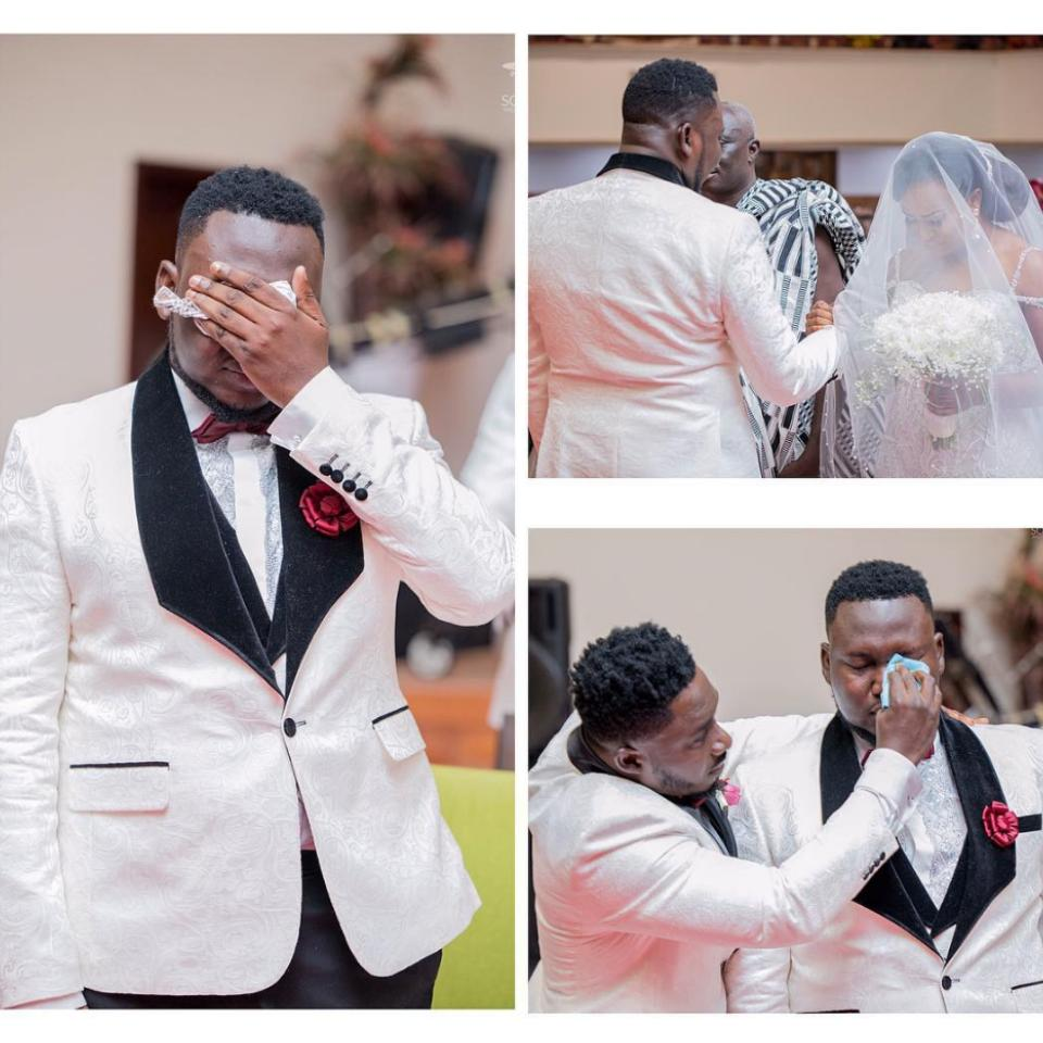 """Ghanaian Groom Wept On His Wedding Day After Hearing The Song """"You Made A Way"""""""